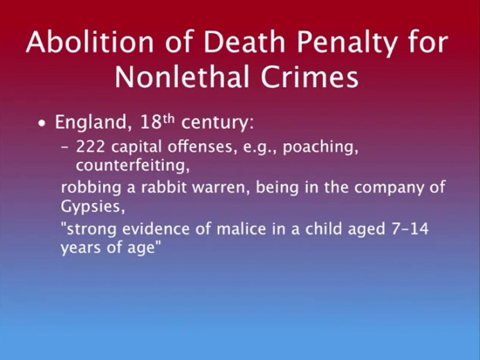 Abolition of Death Penality for Nonlethal Crimes