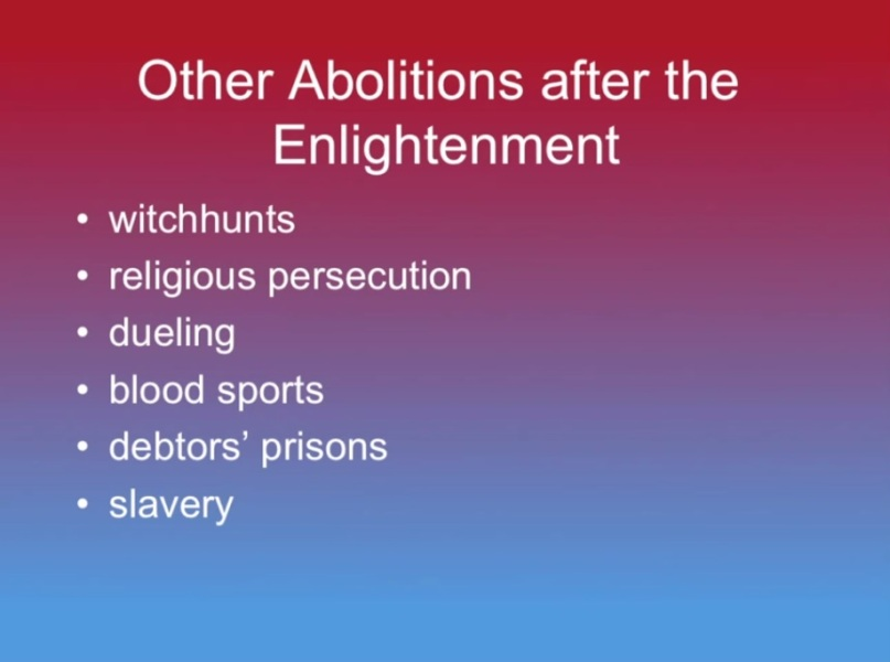 Other Abolitions after the Enlightenment